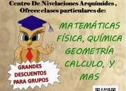 Nivelaciones en matematicas, fisica, geometria, trigonometria, supletorios  remediales