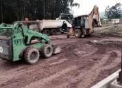 Excavaciones, desbanques, demoliciones, alquiler martillo hidraulico retroescavadora excavadora