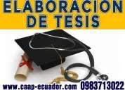 098271 3022 elaboracion de tesis, tesinas, maestría y doctorado. elaboracion de proyectos