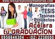 Obtén tu título profesional defiende tu tesis de grado. elaboracion de tesis asesoria de proyectos