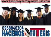 Asesor de tesis pregrado, postgrado. maestrias. 0958846154. asesoría de proyectos de tesis tesinas
