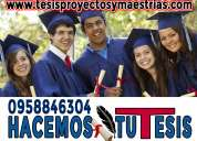 Asesorías integrales de tesis de grado, monografías, tesinas, trabajos universitarios