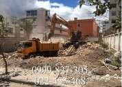 Demoliciones, derrocamientos, desbanaques, excavaciones, limpieza de terrenos, martillo hidraulico