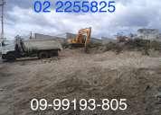 Derrocamientos de casas, excavaciones, desbanques, limpieza de terrenos, lastrados
