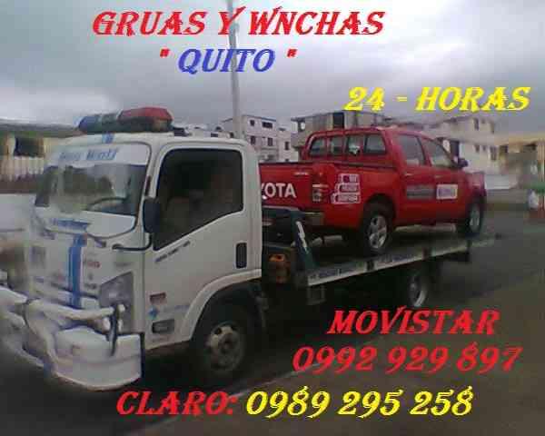 SERVICIO DE GRÚAS Auto-cargables LAS 24Horas 365días movistar: 0992929897 clar;0989295258  QUITO