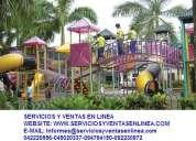 Juegos infantiles en ecuador , toboganes , resbaladeras