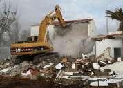 Desbanques, limpieza de terrenos, excavaciones, derrocamientos, martillo hidraulico, demoliciones