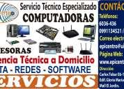 Reparación y mantenimiento de computadoras, impresoras, portátiles a domicilio (quito)