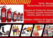 Recarga y venta de extintores. equipos de seguridad industrial