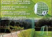 Instalacion y venta de malla para cancha de futbol. balon de futbol gratis!!! llÁmanos ahora!
