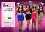 Música y belleza.boca rosa grupo femenino