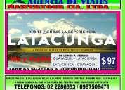 Guayaquil  latacunga ida y vuelta desde 97 dÓlares