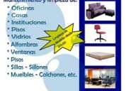 Limpieza de muebles casas sillas oficinas etc