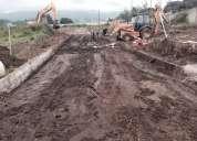 Lastrado, limpieza de terreno, adoquinado, compactaciones, etc.