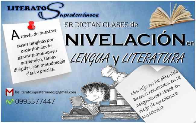 CLASES DE NIVELACIÓN EN LENGUA Y LITERATURA