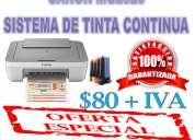 Super oferta canon mg2520 con sistema de tinta continua