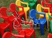 alquiler de sillas plÁsticas para niÑos