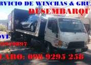 Grua y wincha (desembarque y embarque) de vehiculos y maquinaria movi: 0992929897  claro: 0989295258