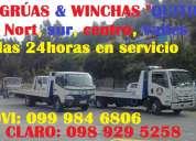 Servicio de gruas y winchas en quito l norte,sur y valles claro: 0989295258 movi: 0999846806