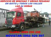 Servicio de grÚas y winchas pesadas para camiones y trailers movi: 0992929897 claro: 0989295258