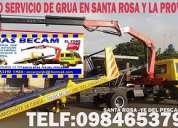 Servicio de grua plataforma autocargable+ brazo hidraulico -machala y provincia