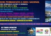 Tours a nivel nacional e internacional de excelente calidad