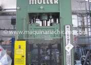 Prensa hidraulica muller 240 ton usada