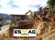 Desalojos de escombros,  desbanques, minicargadora, martillo hidráulico