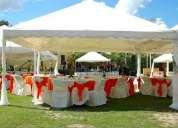 Alquiler de carpas, mesas, sillas, vajilla todo para tu evento a realizar