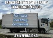 Transporte de mudanzas de casas, oficinas, etc.carga en general