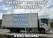 mudanzas y transporte a nivel nacional