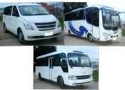 Servicio de transporte turistico a cualquier parte del pais