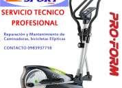 Reparacion y mantenimiento de caminadoras, elÍpticas, estÀticas inf: 0983937718