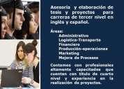 Asesoría  y elaboración de tesis y proyectos