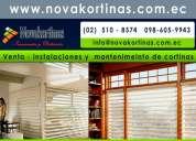Instalacion de cortinas pisos flotantes quito