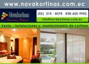 Mantenimiento y reparaciones de cortinas quito