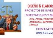 Tutorias personalizadas para proyectos de derecho