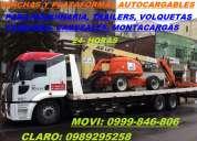 Servicio de gruas y winchas para trailers y maquinas movi: 0992929897 claro: 0989295258