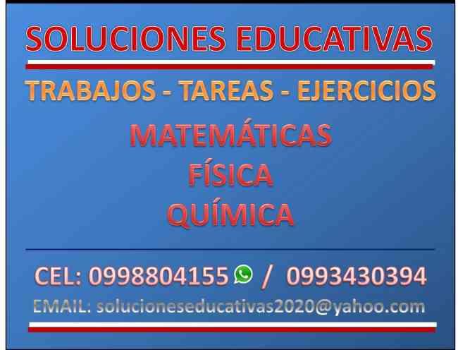 MATEMATICAS, FISICA, QUIMICA. SERVICIOS EDUCATIVOS PROFESIONALES
