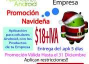 Promocion 18+iva aplicaciones android.