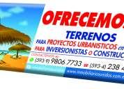 Terrenos para proyectos urbanÍsticos..en la playa......para inversionistas o constructores