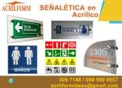 Señalética en acrílico para empresas en quito ecuador