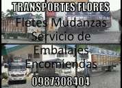 Transportes flores mudanzas y embalajes encomiendas  0987308404