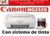 Venta de impresoras a precio de distribuidor/canon mg2520 con sistema de tinta cont./ guayaquil