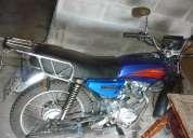 moto azul mensajera