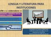 CapacitaciÓn en redacciÓn, ortografÍa, comunicaciÓn oral para profesionales e intituciones