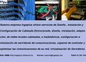 Todo en diseño , instalación y configuración de cableado estructurado