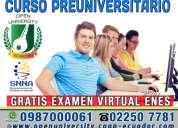 Examen nacional para la educaciÓn superior (enes). curso preuniversitario para el examen senescyt