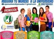 Asegura tu ingreso a la universidad. cursos preuniversitarios para el examen de la senescyt