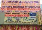 Cauchos automotrices, mangueras, bujes, bases, felpas, etc. instalaciÓn gratis